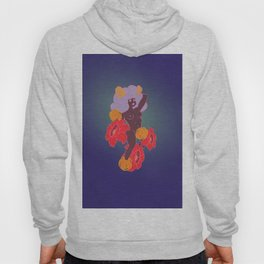 Horned Girl with Flowers Hoody