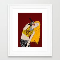 hedwig Framed Art Prints featuring Hedwig Singing by byebyesally