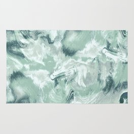 Marble Mist Green Grey Rug
