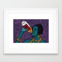 mcfreshcreates Framed Art Prints featuring Drunk Off You by McfreshCreates