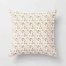 Autumn leaf pattern Throw Pillow