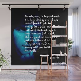 Steve Jobs 'DONT SETTLE' quote Wall Mural