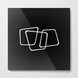 Simply Minimal 2 - Abstract, black and white Metal Print