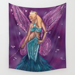 Galactic Fairy Godmother Wall Tapestry