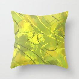Citric abstract Throw Pillow