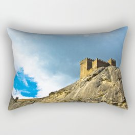 Genoese fortress in Sudak Rectangular Pillow