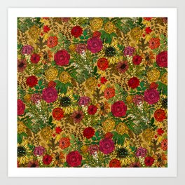 Autumn Botanic Garden Art Print