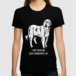 Leonberger-tshirt,-just-freaking-love-my-Leonberger. T-shirt