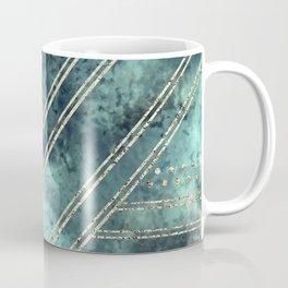 Jade Chevron Gold Coffee Mug