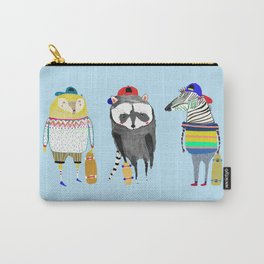 The skateboarders. skateboard print - skating - animal art. Carry-All Pouch