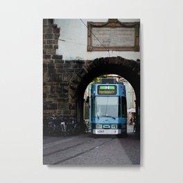 Streets os Freiburg Metal Print
