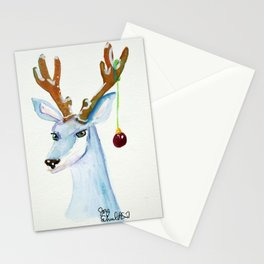 Frosty Reindeer- Not Amused Stationery Cards