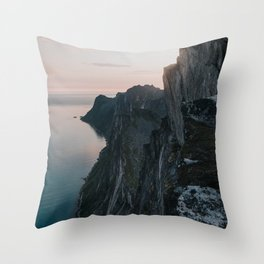 The Cliff - Landscape and Nature Photography Throw Pillow