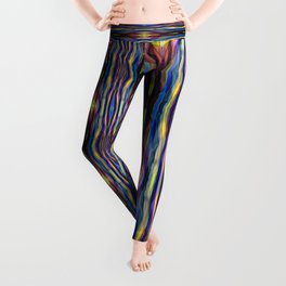 Hand Painted Waves Leggings