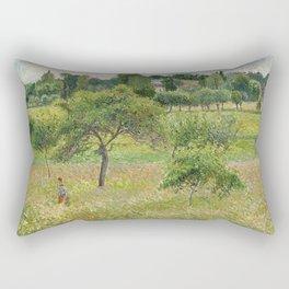"Camille Pissarro ""Apple trees in Éragny"" (""Pommiers à Éragny"") Rectangular Pillow"