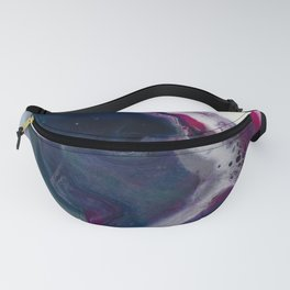 In Bloom - Abstract floral white pink and blue Resin art Fanny Pack