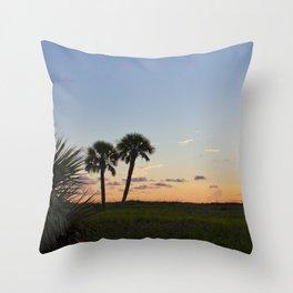Sunset in Fort De Soto Throw Pillow