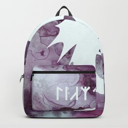 Vintage Dragon Watercolor Silhouette Backpack
