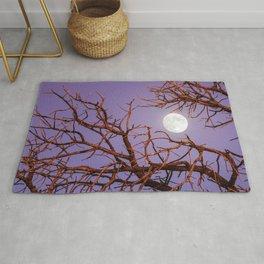 Beautiful Fascinating Full Moon Leafless Tree HD Rug