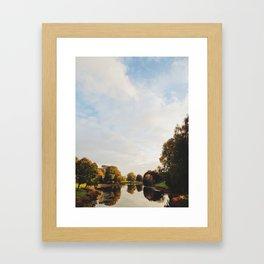 Lake Sacajawea Framed Art Print
