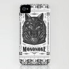 Mononoke Hime Wolf Pride Letterpress Line Work iPhone (4, 4s) Slim Case