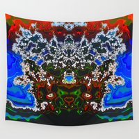 headdress Wall Tapestries featuring An Elaborate Headdress by mimulux