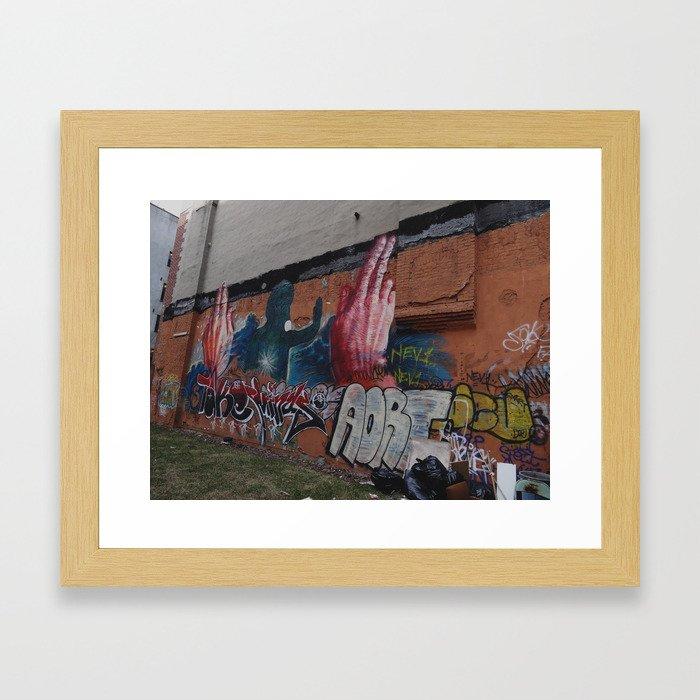 city walls Framed Art Print