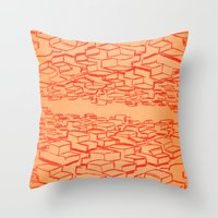 cars Throw Pillows featuring Cars by David King