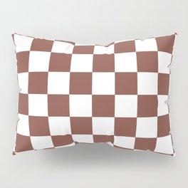 Checkered (Brown & White Pattern) Pillow Sham