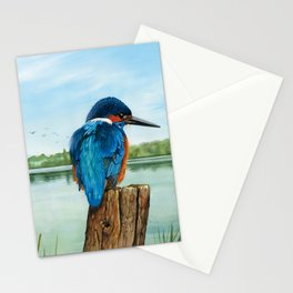 Martin Pescatore nella riserva naturale di Nazzano Stationery Cards