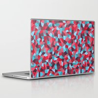 stained glass Laptop & iPad Skins featuring Stained Glass by mthw design