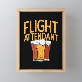 Flight Attendant Framed Mini Art Print