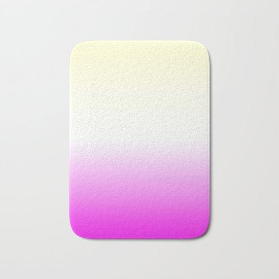 Pink White Yellow Gradient Bath Mat