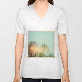 Winter Trees Unisex V-Neck