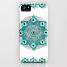 """Teal Flower Power ^_^"" iPhone Case"