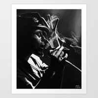 tom waits Art Prints featuring Tom Waits by Brad Collins Art & Illustration