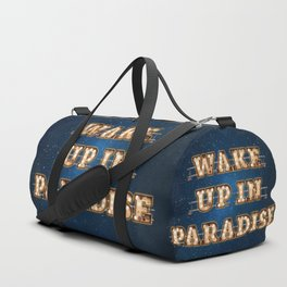 Wake up in Paradise - Wall-Art for Hotel-Rooms Duffle Bag