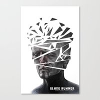 blade runner Canvas Prints featuring Blade Runner by Andy Pugh