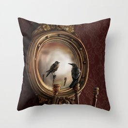 Brooke Figer - Reflection on Perception Throw Pillow