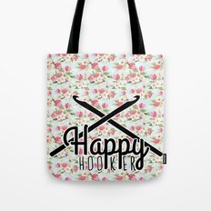 funny crochet vintage floral happy hooker Tote Bag
