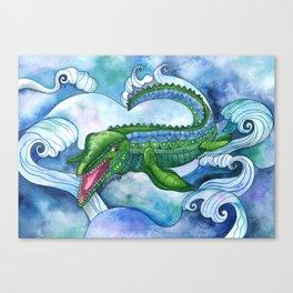 Mervyn the Marvelous Mosasaurus Canvas Print