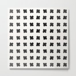 X Grid – Black Palette Metal Print
