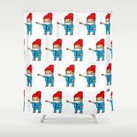 zissou Shower Curtains featuring Zissou by kaylieghkartoons