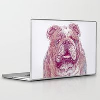 bulldog Laptop & iPad Skins featuring Bulldog by Ahmad Mujib