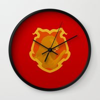 gryffindor Wall Clocks featuring Gryffindor by Tom Oxnam
