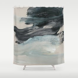 minimal brushstrokes 3 Shower Curtain