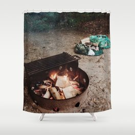Campfire at Pinery Shower Curtain