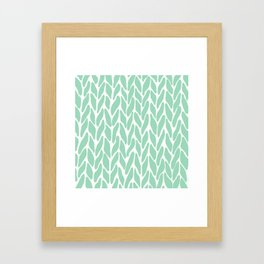 Hand Knitted Mint Framed Art Print