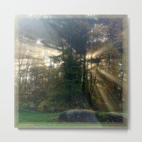 Sunlight Streams - Vermont Morning Glory Metal Print