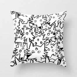 three eyed wolfpack Throw Pillow